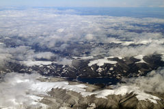 Mountains aerial view stock images