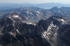 Mountains. Aerial view of mountains, Greenland Royalty Free Stock Photos
