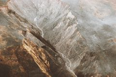 Mountains aerial view Landscape travel scenery. Exploring wild nature Royalty Free Stock Photo