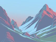 Mountains in the afternoon. Mountains in the background of the morning sky Stock Photography