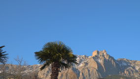 Mountains against the blue sky stock footage