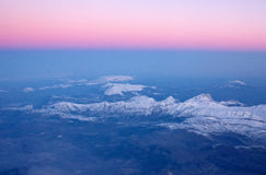 Mountains from air Royalty Free Stock Photos