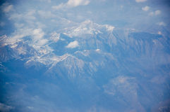 Mountains from airplane Royalty Free Stock Photo