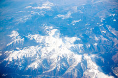 Mountains from airplane Stock Image