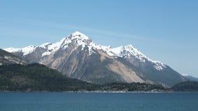 Mountains in Alaska's Glacier Bay Stock Image