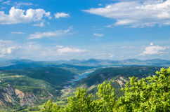 In the mountains in Albania Stock Photo