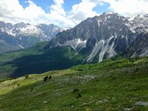 Mountains of the Albanian Alps. High mountains of the Albanian Alps royalty free stock photo