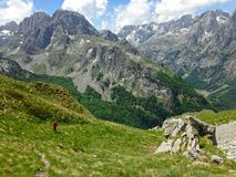 Mountains of the Albanian Alps. High mountains of the Albanian Alps royalty free stock photography