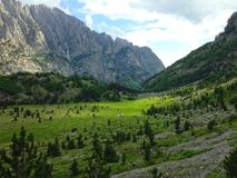 Mountains of the Albanian Alps. High mountains of the Albanian Alps stock photography