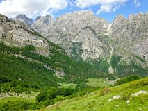 Mountains of the Albanian Alps. High mountains of the Albanian Alps royalty free stock images