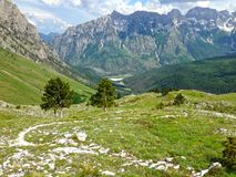 Mountains of the Albanian Alps. High mountains of the Albanian Alps stock images