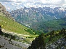Mountains of the Albanian Alps. High mountains of the Albanian Alps stock photos