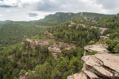 Mountains of Albarracin Stock Images