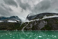 Mountains Along the Endicott Arm Fjord Royalty Free Stock Images