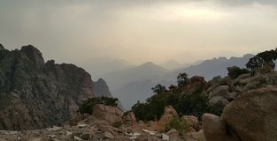 Mountains. Along the horizon Stock Image