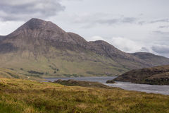 Mountains along Loch Lurgainn in Scotland. Stock Image
