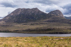 Mountains along Loch Lurgainn in Scotland. Stock Photography