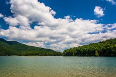 Mountains along the shore of Watauga Lake, in Cherokee National Royalty Free Stock Image