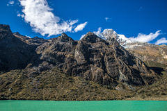 Mountains along side a lake Royalty Free Stock Images