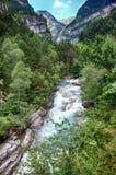 Alpine rills in teh Spanish Pyrenees. Stock Photos