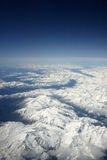 Mountains Alps. Apls with snow from the plane Royalty Free Stock Photos