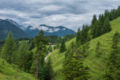The mountains of Alps in Bavaria, Germany.  Royalty Free Stock Images