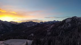 Mountains in the Alps. Flachau, austria, winter, nature, skiing Royalty Free Stock Photography
