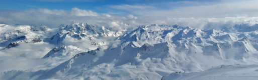 Mountains (Alps) - panorama Royalty Free Stock Photo