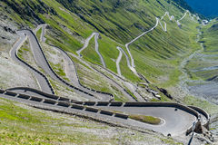 Mountains Alps Passo Stelvio Stock Photos