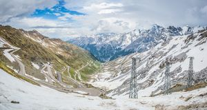 Mountains Alps Passo Stelvio. Italy, landscape. stock image