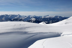 Mountains Alps with snow in winter Stock Photo