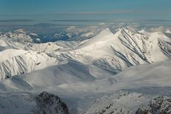 Mountains in the Alps Royalty Free Stock Images