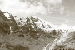 Mountains in the Alps Stock Photography