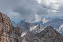 The mountains of Alps in Tyrol, Austria Stock Images