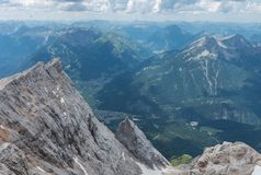 The mountains of Alps in Tyrol, Austria Royalty Free Stock Image
