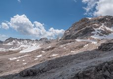 The mountains of Alps in Tyrol, Austria Royalty Free Stock Photo