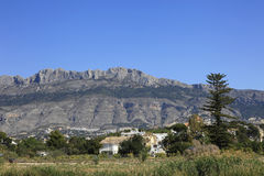 Mountains Altea Spain. The Beautiful Coastal Mountains by Altea village on the Costa Blanca southern Spain Stock Image