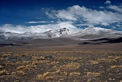 Mountains on Altiplano in Bolivia,Bolivia Royalty Free Stock Images