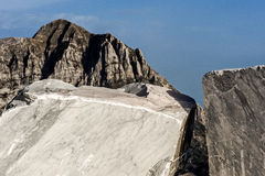 Mountains And Marble Quarry Royalty Free Stock Images