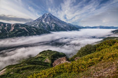 Free Mountains And Volcanoes. Beautiful Landscape Of Kamchatka Penins Royalty Free Stock Photography - 86557397