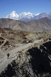 The mountains in Annapurana Circuit. Trekking in Muktinash,Annapurana Circuit,Pokhara,Nepal.all photos are original and with no photoshop royalty free stock photo
