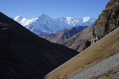 The mountains in Annapurana Circuit. Trekking in Thorung-La Pass,Annapurana Circuit,Pokhara,Nepal.all photos are original and with no photoshop stock image