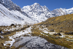 Mountains of Annapurna Royalty Free Stock Photo