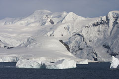 Mountains on the Antarctic Peninsula Stock Images