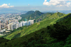Mountains and Architecture royalty free stock images