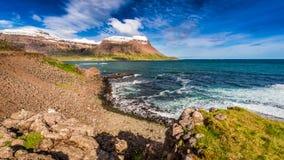 Mountains of the Arctic sea, Iceland Stock Photos