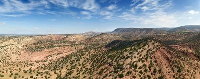 Mountains with argan trees in Morocco royalty free stock image