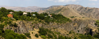 Mountains. In Armenia, the view from Garni Temple Stock Images