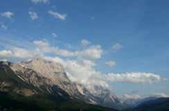 Mountains around Cortina d'Ampezzo, Italy Royalty Free Stock Images