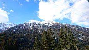 Mountains around filisur, switserland taken from the Rhatische Bahn Stock Photo